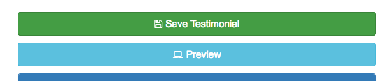 Click 'Save Testimonial' located in the top right corner.